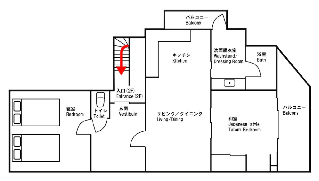 3階 3F 平面図 パーティスペース 大阪 D3 HOTEL 民泊 ホテル 場所貸し Airbnb スペースマーケット Spacemarket Booking 楽天トラベル